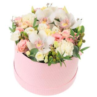 Цветы в коробке «Английский сад»