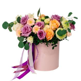 Цветы в коробке «Весенний»